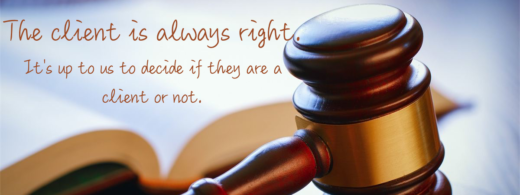 The two rules of attorney client relations.